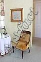 MARY MARTIN SAMPLER AND VICTORIAN LADIES' PARLOR CHAIR