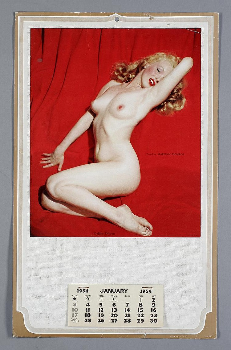 Marilyn Monroe Framed Golden Dreams Nude Pose With June