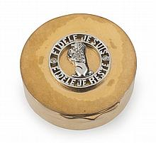 GRETA GARBO VAN CLEEF & ARPELS 18K GOLD PILLBOX