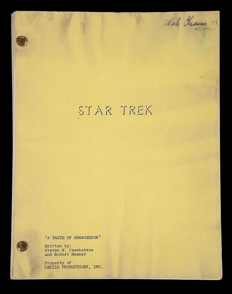 STAR TREK: THE ORIGINAL SERIES MASSIVE PRODUCTION SCRIPT ARC