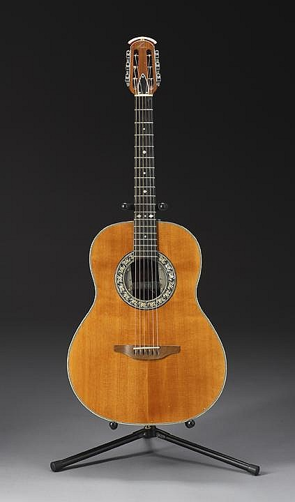 KURT COBAIN EARLY PLAYED ACOUSTIC OVATION GUITAR