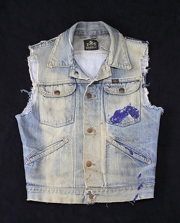 MADONNA WORN JEAN JACKET FROM FAMOUS PHOTO SHOOT