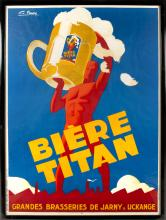 EARLY 2OTH CENTURY POSTER FOR TITAN BEER