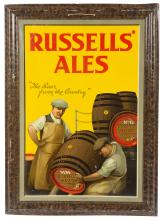 MID 20TH CENTURY SIGN FOR RUSSELLS' ALES