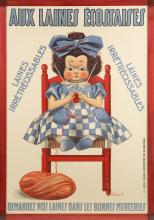 EARLY 20TH CENTURY POSTER FOR SCOTTISH WOOL