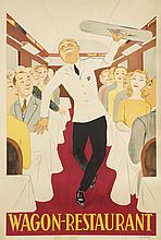 MID 20TH CENTURY POSTER FOR WAGON-RESTAURANT