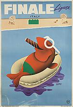 MID CENTURY POSTER FOR FINALE LIGURE