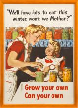 MID 20TH CENTURY POSTER ENDORSING HOME CANNING