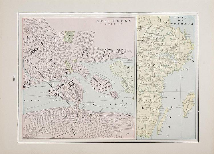 GRETA GARBO STOCKHOLM MAP