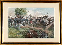 JONATHAN WINTERS C.D. GRAVES CIVIL WAR PAINTING