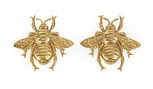JOSEFF OF HOLLYWOOD GOLD TONE COSTUME BEES