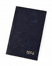 GRETA GARBO 1954 DATE BOOK