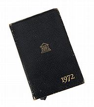 GRETA GARBO 1972 DATE BOOK