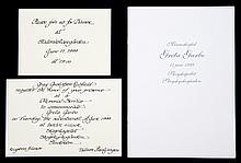 GRETA GARBO MEMORIAL SERVICE INVITATIONS AND PROGRAM