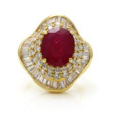 Ruby Diamond 14K Yellow Gold Ring