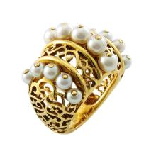 Mellerio Pearl 18K Gold Ring, French