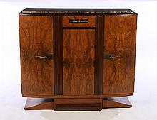 ART DECO CABINET INSET MARBLE TOP 1930