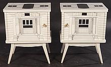 PAIR FORNASETTI STYLE SIDE CABINETS 1960