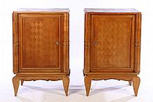 PAIR FRENCH MODERNIST CABINETS PARQUETRY 1940
