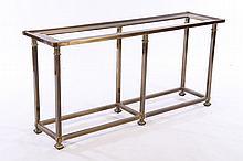 BRASS CONSOLE/SOFA TABLE