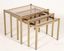 FRENCH MID CENTURY MODERN 3 PART NESTING TABLE
