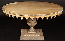 HOLLYWOOD REGENCY PAINTING DINING TABLE ROUND TOP