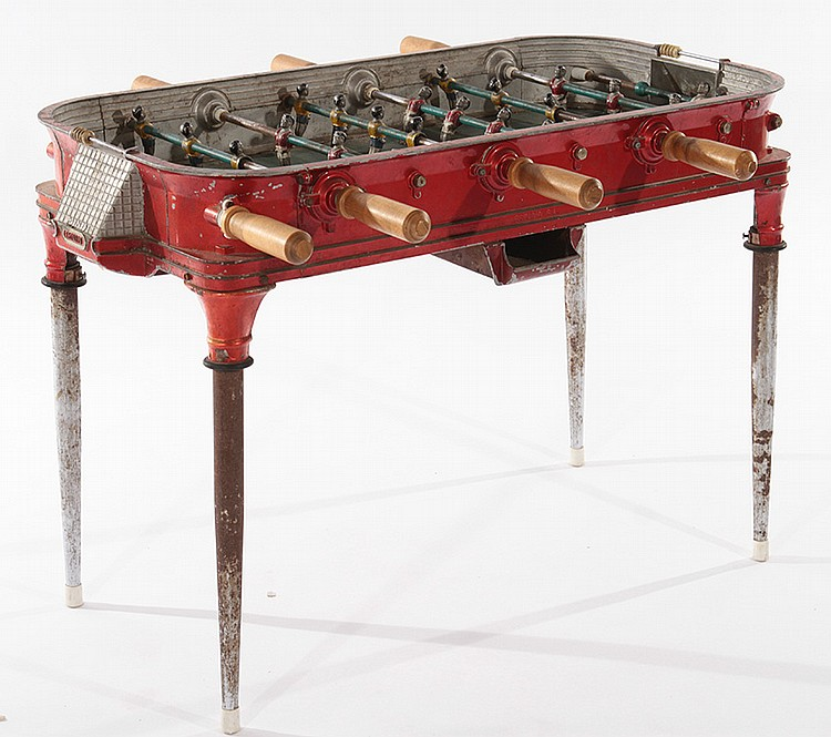 ... Size Foosball Table By Cast Aluminum Child S Size Foosball Table 1930