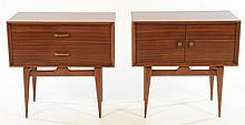 PAIR MID CENTURY SIDE CABINETS 1960