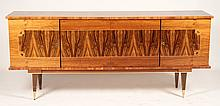 FRENCH HIGHLY FIGURAL WOOD SIDEBOARD 1950