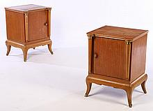 PAIR FRENCH SIDE CABINETS MANNER ANDRE ARBUS 1950