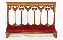 OVERSIZED GOTHIC CARVED KNEELER 1890