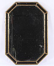 GILTWOOD CARVED PAINTED FAUX BAMBOO MIRROR