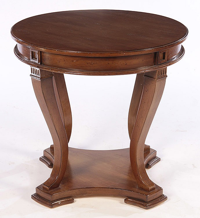 Empire style center table plinth base for Cuir center table basse