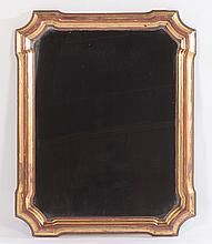 GILTWOOD  PAINT DECORATED MIRROR