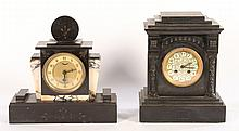 GROUPING OF 2 MANTLE CLOCKS C.1900