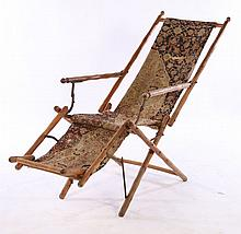 LATE 19TH CENT. ADJUSTABLE MECHANICAL CHAISE