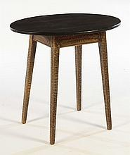 SWEDISH 19TH CENT. PAINT DECORATED OVAL TOP TABLE