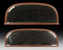 LOT 2 FRENCH ARCHED MIRRORS BEVELED GLASS 1910
