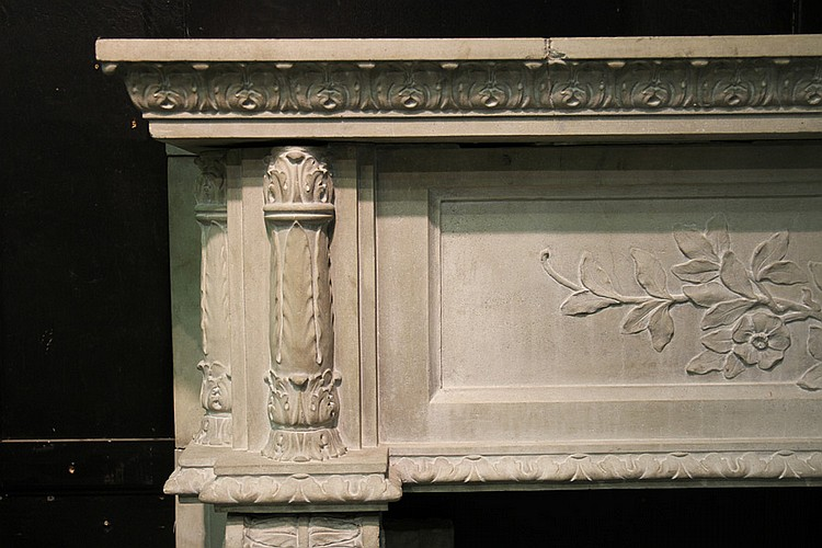 4 piece cast stone fireplace mantle 1910 for Home decor 1910