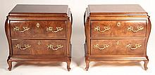 PAIR LABELED HENREDON SIDE CABINETS OR COMMODES