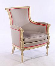 DIRECTOIRE STYLE CARVED BERGERE CHAIR
