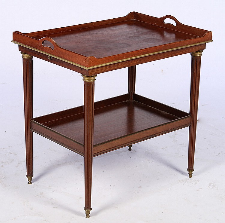 Mahogany Bronze Mounted Bar Cart 1940