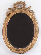 CONTINENTAL GILT GESSO CARVED BEVELED MIRROR
