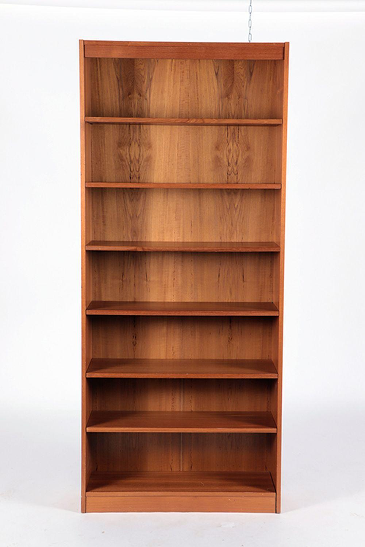 DANISH TEAK OPEN BOOKCASE SEVEN SHELVES
