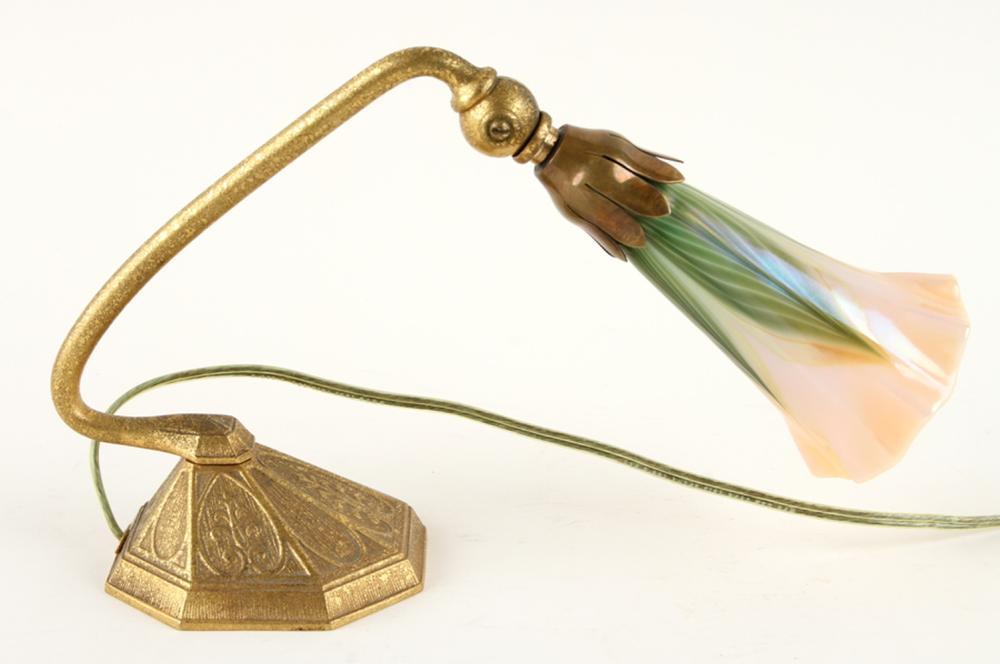 TIFFANY STUDIOS 625 BRONZE DESK LAMP FAVRILE