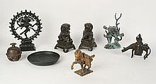 8 PC ASIAN BRONZE COLLECTION