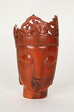 CHINESE ASIAN ANIMAL HORN VESSEL C. 1900