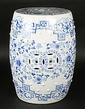 SWEET CHINESE PORCELAIN BLUE WHITE GARDEN SEAT