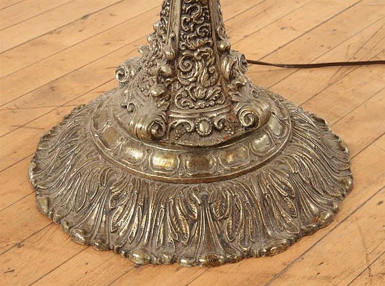 Brass Glass Venetian Style Floor Lamp