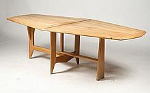 OAK FLIP TOP DINING TABLE GUILLERME ET CHAMBRON